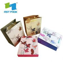 Promotional Price Recyclable Red X-Mas Paper Gift Bag