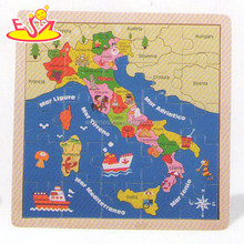 wholesale baby wooden map jigsaw puzzle educational kids wooden map jigsaw puzzle child wooden map jigsaw puzzle W14C146