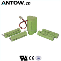 High quality rechargeable battery 1.2v 300mah ni mh battery for solar light