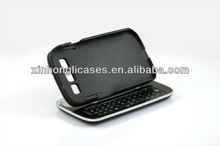 Detachable Bluetooth Keyboard Leather Case Cover for samsung galaxy S3 / SIII / I9300