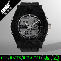 Best selling good-looking analog digital watch night light & two time zones