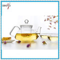 Hot sale home decoration high mordern clear glass tea set