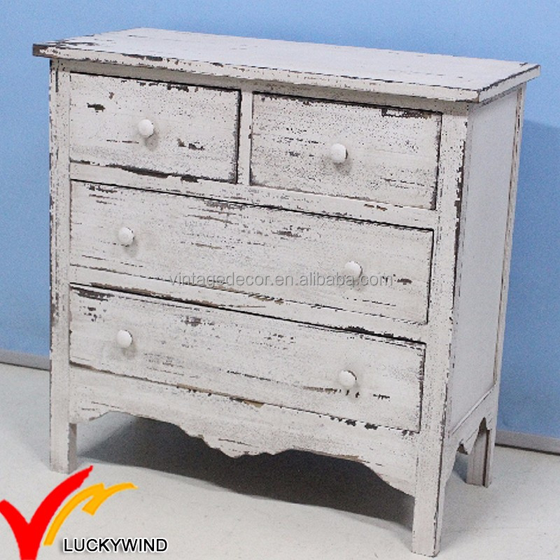 Hot sales Wholesale FSC Shabby chic vintage rustic furniture used wooden chest of drawers