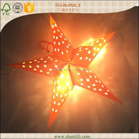 Large handmade paper star for decoration