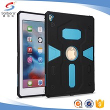 Double layer TPU+PC cover for iPad pro 9.7 case blue