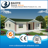 professional factory of modular prefabricated house using sandwich panel as wall and roof