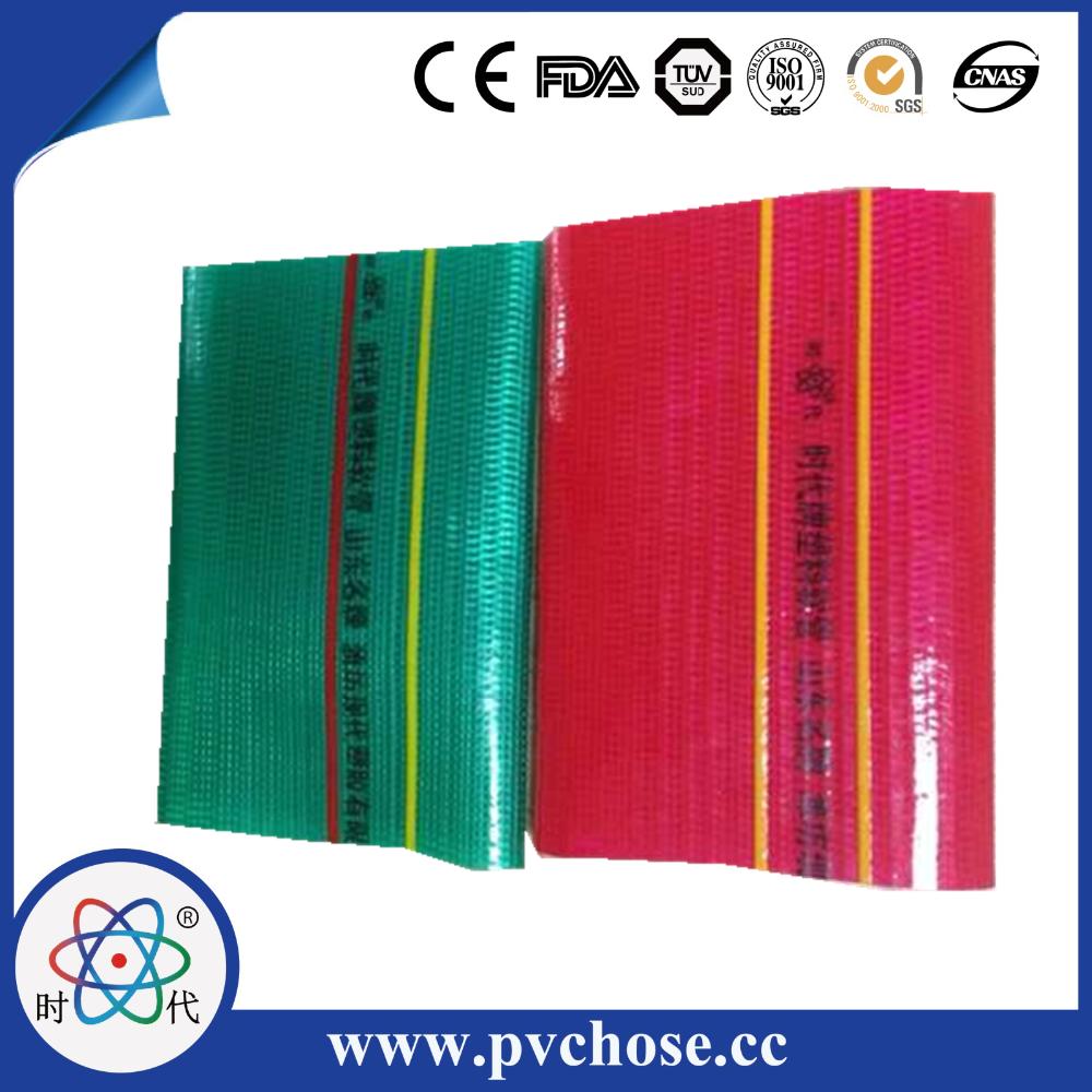High pressure pvc flexible fiber layflat water conduit for