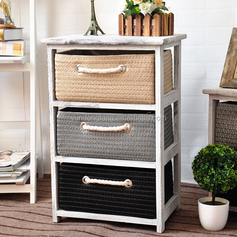 Straw Woven Drawers Living Room Mini Wooden Chest Of Drawers Buy Wooden Mini Cabinet Rattan