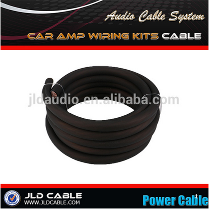 Made in China jld audio US standard wire 4 AWG power cable with PVC jacket and conductor copper cable prices