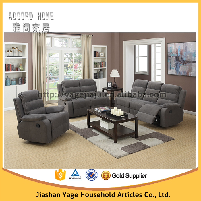 Living room furniture reclining leather sofa buy 7 for 7 seater living room set