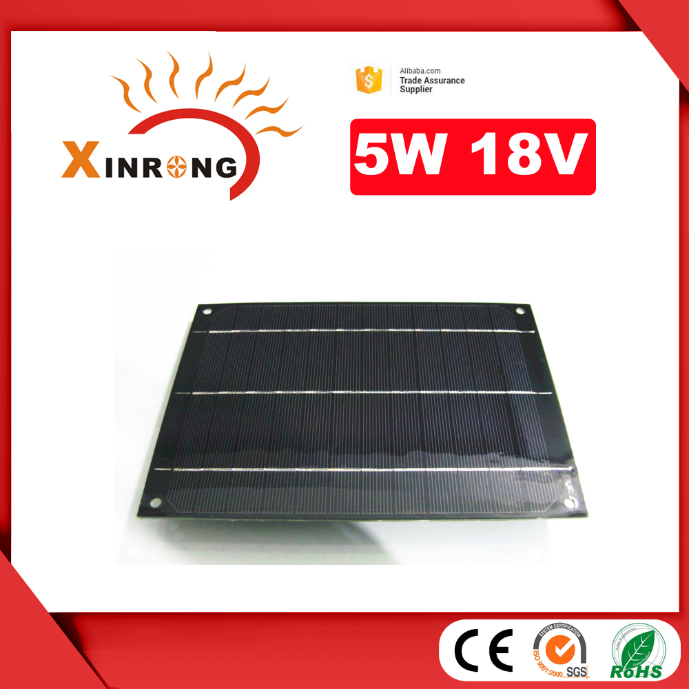 for 12v Battery Cheap Shipping Cost 5W PET Laminated Solar Panel