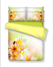 3D digital printing 100% cotton magnolia duvet cover set