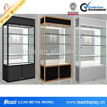 clear glass display cabinet
