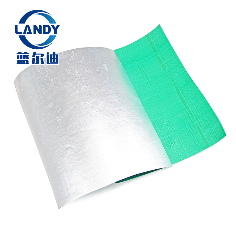 Double zeros sides aluminum foil woven vapor radiant barrier for food packing,flame retardant heat barrier foil insulation