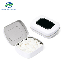Customized Printing Packaging Boxes Hinged Small Metal Mint Tin Box