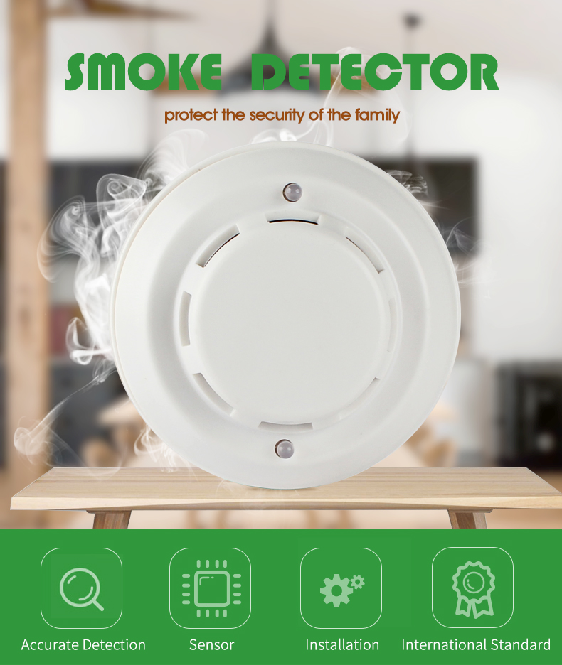 DC24V 4 Wired Cigarette Smoke Detector with Best Prices