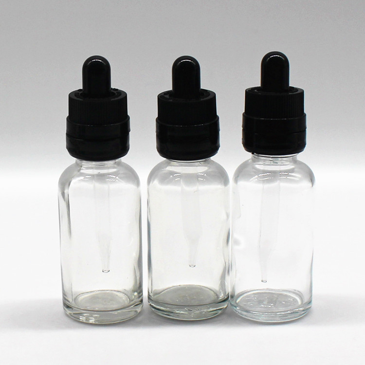 20ml 30ml 50ml cosmetic packing glass clear empty essential oil dropper bottle