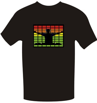custom printed fashion el panel el equalizer t-shirt