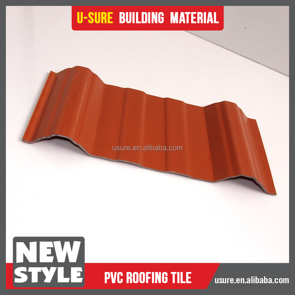 light transmission high quality 2017 home use waterproof laminate pvc roof tiles pvc sheet