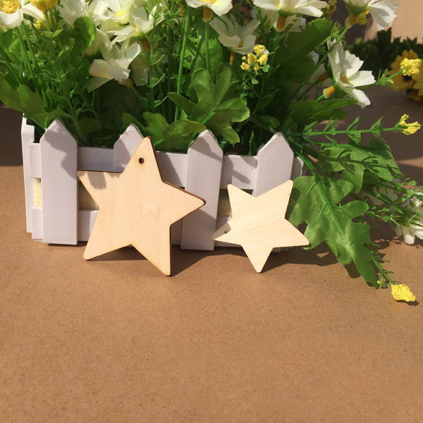 wooden star unfinished wood craft for tags/earrings/wedding
