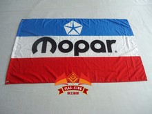 VINTAGE MOPAR RED WHITE BLUE Flag 3x5 FT Banner 100D Polyester Flag Brass Grommets