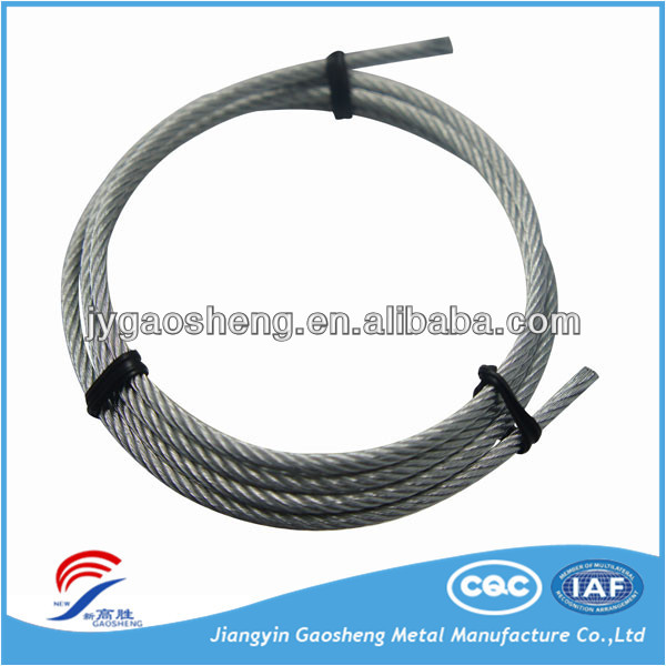 5mm 7x19 Galvanised Aircraft Cable