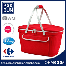 wholesale new type durable 600d Basket Cool Picnic Bag For Girl