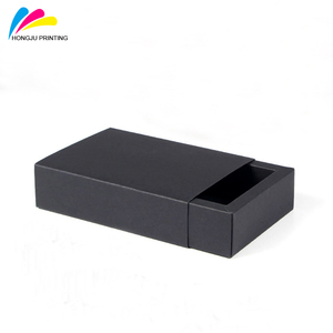 HJZH001 small cardboard sliding black drawer gift box