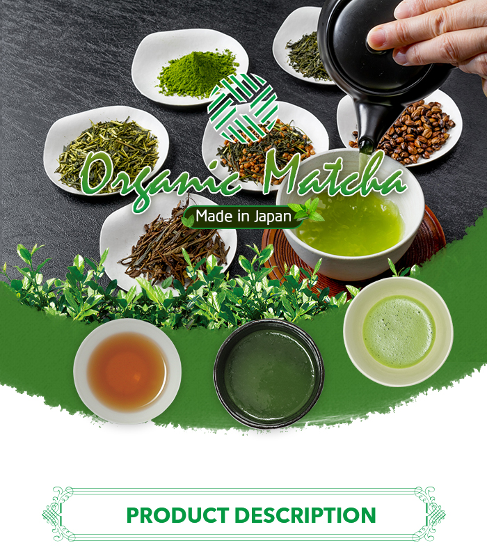 High Quality Product Packaging Size 50G 100G 500G 1000G Matcha Green Tea