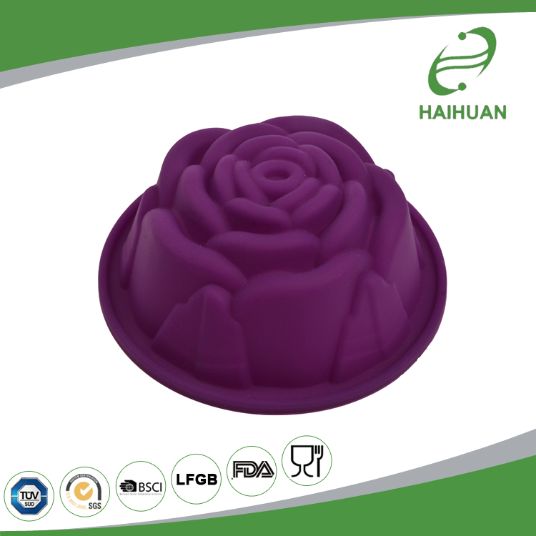 Various Models Silicone Rose Shaped Cupcake / Muffin Mould Rose Craft Silicone Cake Mould