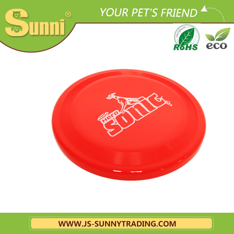 Custom 9 inch dog toy flying disc frisbee with new printing(made in china)