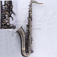 Tianjin Music Instrument Antique Bronze Sax Professional Bending Tenor Saxophone
