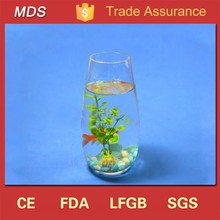 High quality wine glass shaped fish tank for sale