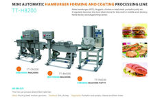 Hamburger Production Line - Nugget Forming and Coating Processing line, All 304S/S, TT-HB200