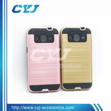 Factory price wire drawing colorful pc+silicone case for iphone 6 case