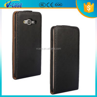 Vcase Manufacturer Simple Color Magnetic Vertical Premium Leather Flip Back Case Cover for Samsung Galaxy S Duos S7562