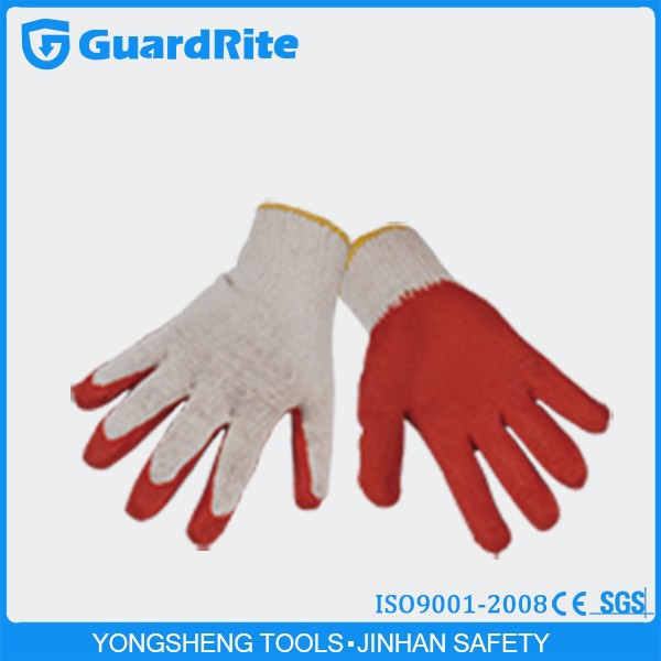 GuardRite Brand Factory Supply Latex Coated Heavy Duty Construction Gloves Labor Gloves A-3002