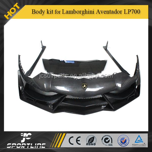 Full Carbon Fiber LP700 Car Lamborghini bodykit for Lamborghini Aventador LP700 kit DM Style