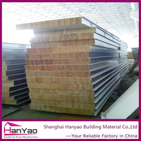 Insulated Steel Rock Wool Sandwich Wall Panel for Prefabricated House