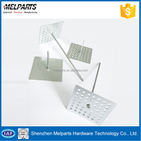 Perforated base insulation fastener thermal insulation nail support pin