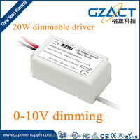0-10V DIMMABLE constant current 700mA 1050mA 20W led driver for led cob light led tube