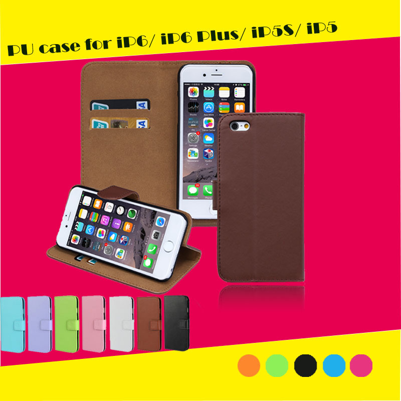 2015 Fashion Design Phone Case 5/5s PU leather flip phone case for iphone case wholesale