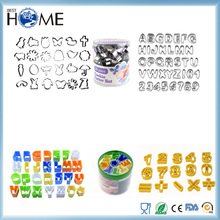 Cake Decoration Tool Number Alphabet Tappit Stainless Steel Plastic Cookie Cutter Set