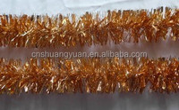 Wholesale Christmas Tinsel For Tree Decoration/Colorful Xmas Shiny Tinsel Garland