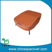 brown spa cover with round corner