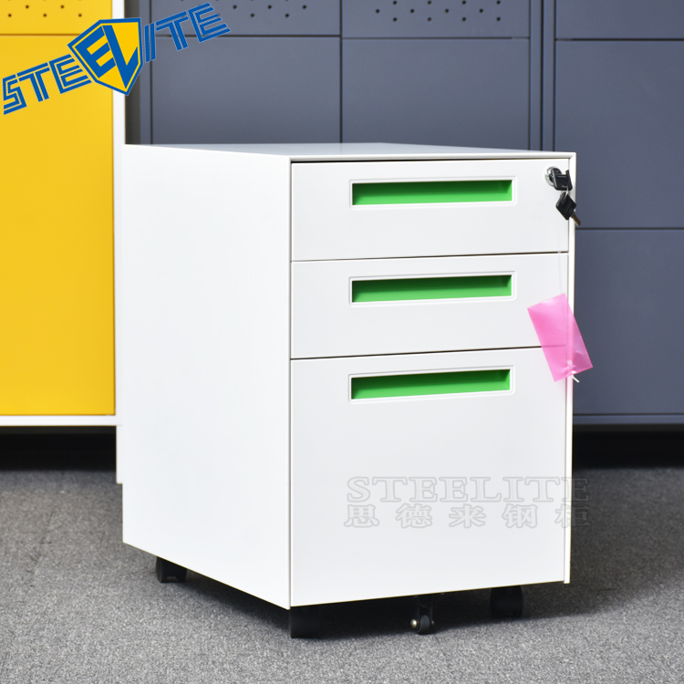 High quality office equipment 2 drawer pedestal file cabinet