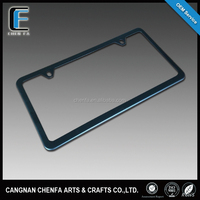 Wholesale America size stainless steel matte black painted car license number plate frame