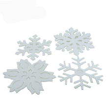 custom snow shape laser cut simple felt christmas decoration for window