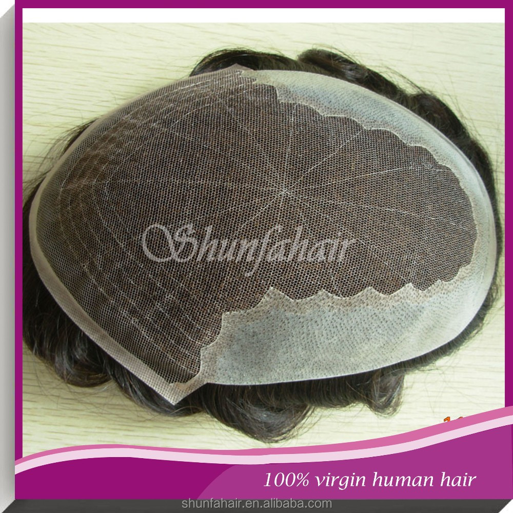 Shunfa Natural Hairline white lace Men hairpieces