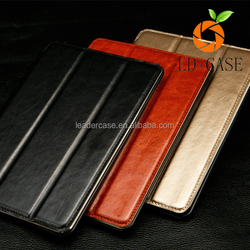 Fashion cool business style high quality stand pu leather case for ipad mini,luxury leather case for ipad